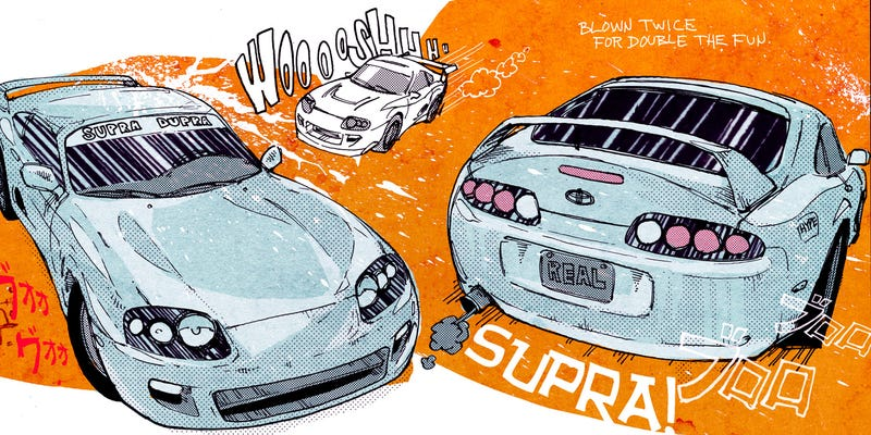 Illustration for article titled Mr. Regular Explains How The Supra Runs On Gas And Hype, Is Totally Worth Your Money