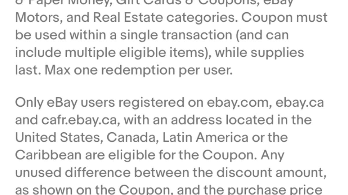 15 Off Ebay Coupon Today Only App Only