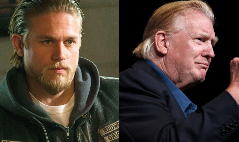 Illustration for article titled Trump's Clearly Watching Sons of Anarchy Reruns Again, Channels Jax Teller With New Hair Style