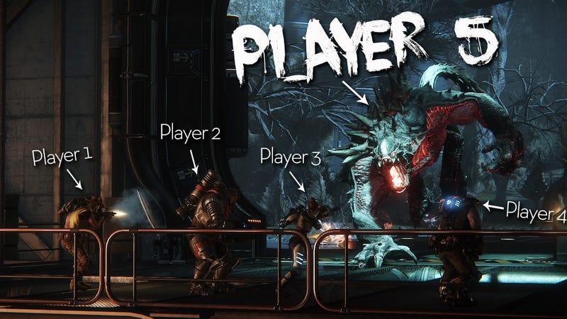 Illustration for article titled Primer tráiler de Evolve, el juego en el que tú puedes ser el monstruo