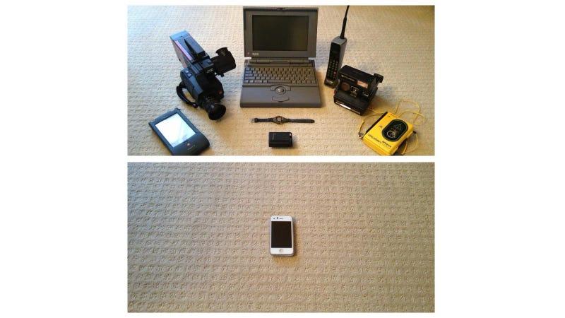 Illustration for article titled 1993 vs 2013: gadgets que el móvil ha  jubilado  para siempre