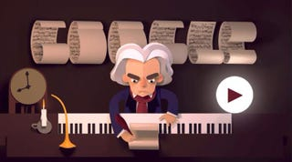 Illustration for article titled Celebrating Ludwig van Beethoven's 245th Year Doodle