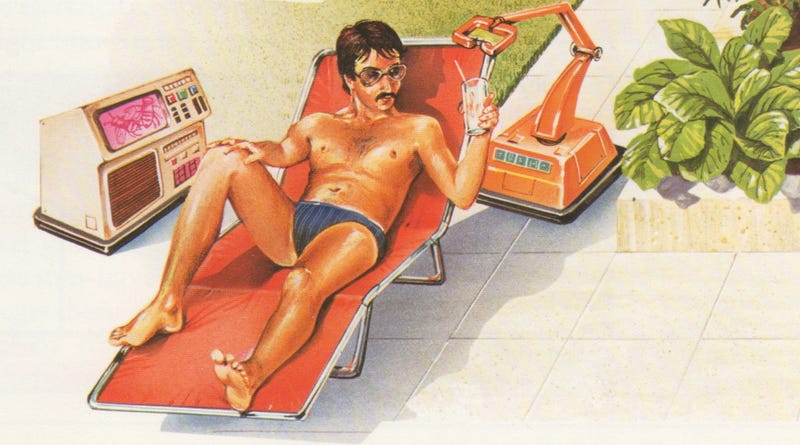 Illustration for article titled Speedos, Computers, and Robot Butlers: Rural Living in the Future