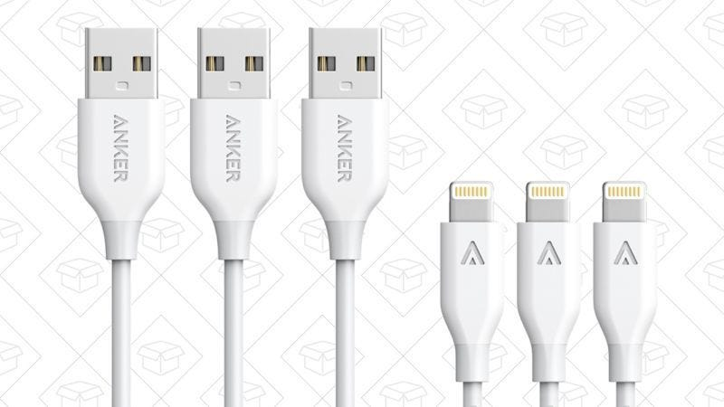Pack de 3 cables PowerLine Lightning, $20