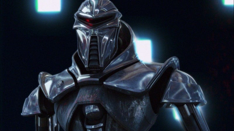 One of the evil Cylons of Battlestar Galactica. Image: Wallpaper Cave