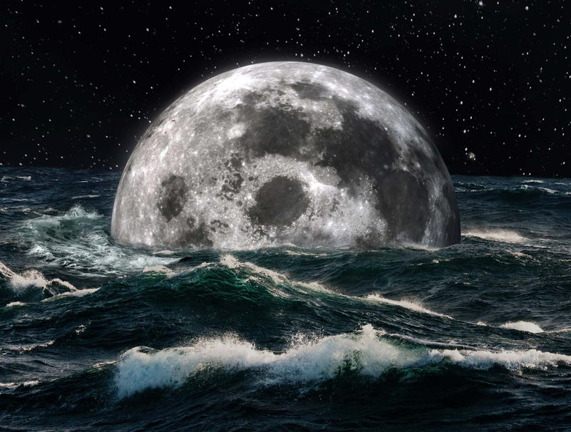 Illustration for article titled Report: If Earth Continues To Warm At Current Rate Moon Will Be Mostly Underwater By 2400