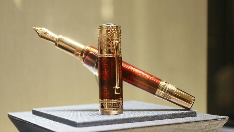 A Montblanc pen.