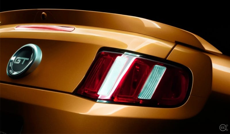 Illustration for article titled New 2010 Ford Mustang GT Teaser Photo Reveals A Duck-Tailed Rear End
