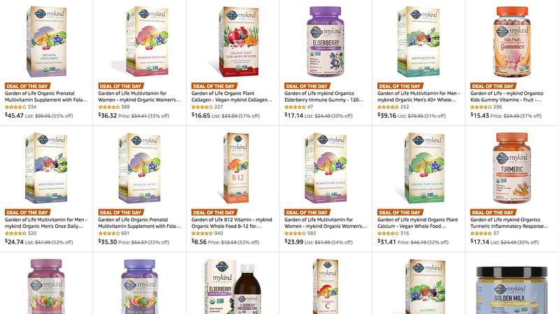 Garden of Life Supplements Gold Box | Amazon