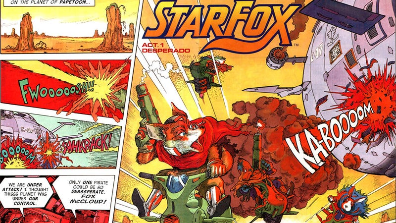 Illustration for article titled Let's All Read This Terrific 1992 Star Fox Comic