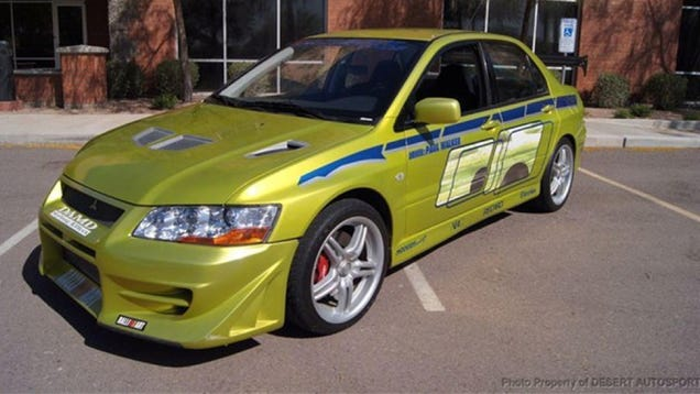 now you can own paul walker 39 s mitsubishi evo from 2 fast 2 furious. Black Bedroom Furniture Sets. Home Design Ideas