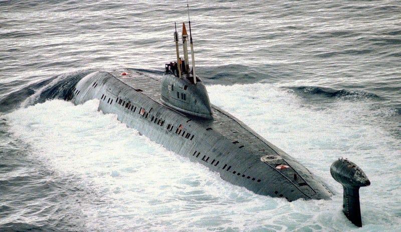 Submarino ruso K-324. Wikimedia Commons