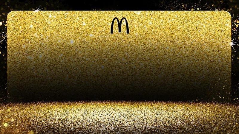 Illustration for article titled McDonald's sorteará una tarjeta dorada para comer gratis de por vida como la que tiene Bill Gates