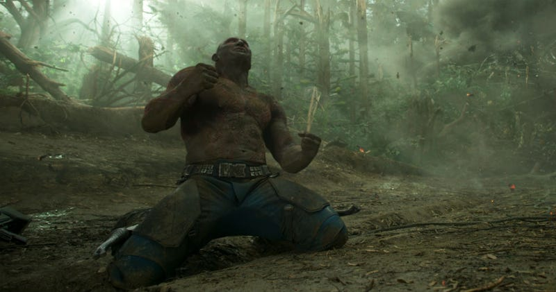Drax has lots of issues in Guardians of the Galaxy Vol. 2. Image: Disney