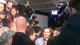 Ted Cruz surrounded by supporters and press in Iowa on Jan. 31, 2016Jason Johnson/The Root
