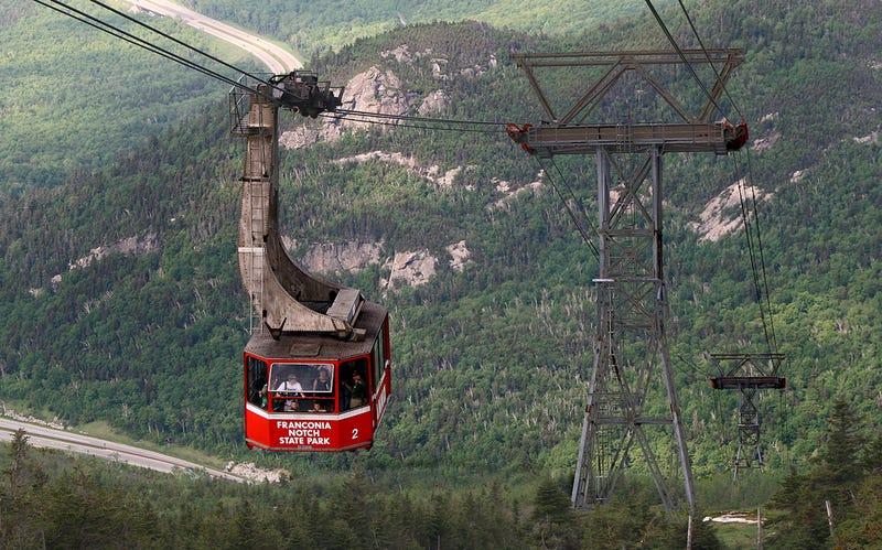 Teleférico en Cannon Mountain.