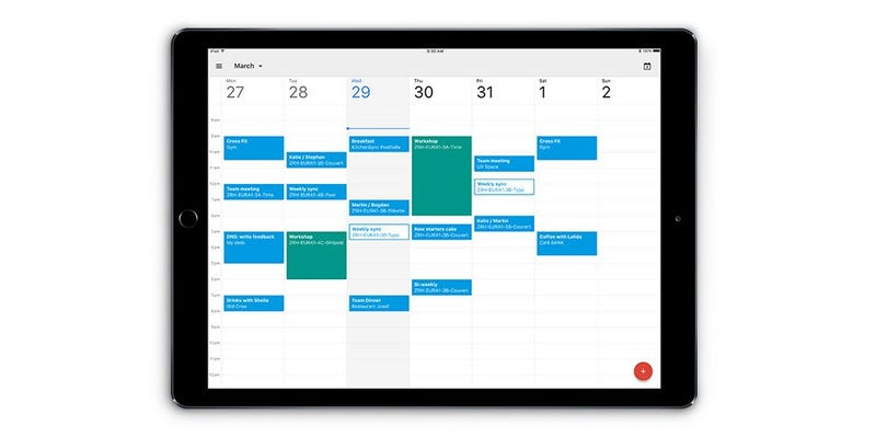 Illustration for article titled Google Calendar Is Now Optimized for the iPad