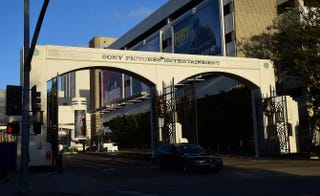 """The entryway at Sony Pictures Entertainment in Los Angeles. Early in December, Sony Pictures denounced a """"brazen"""" cyber attack it said had netted a large volume of confidential information, including movies as well as personnel and business files, but the company played down a report that North Korea was behind the attack, saying it did not then know the full extent of the security breach.FREDERIC J. BROWN/AFP/Getty Images"""