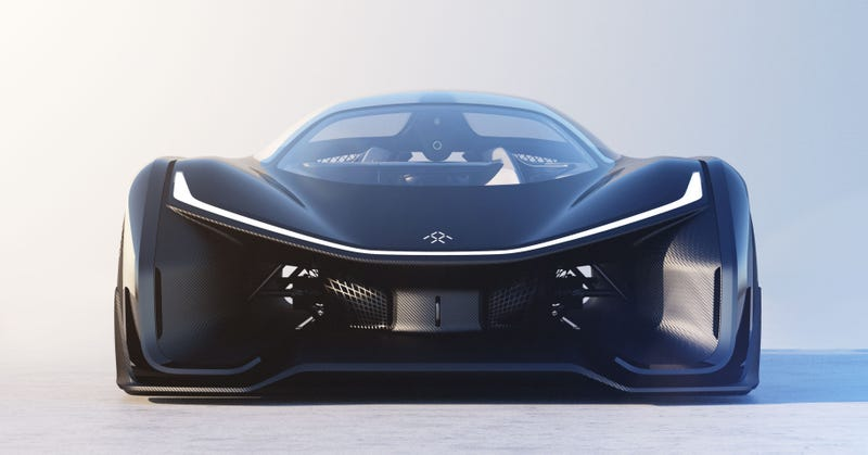 Illustration for article titled Faraday Future Says It Has A Real Car Too But You Haven't Seen It Yet