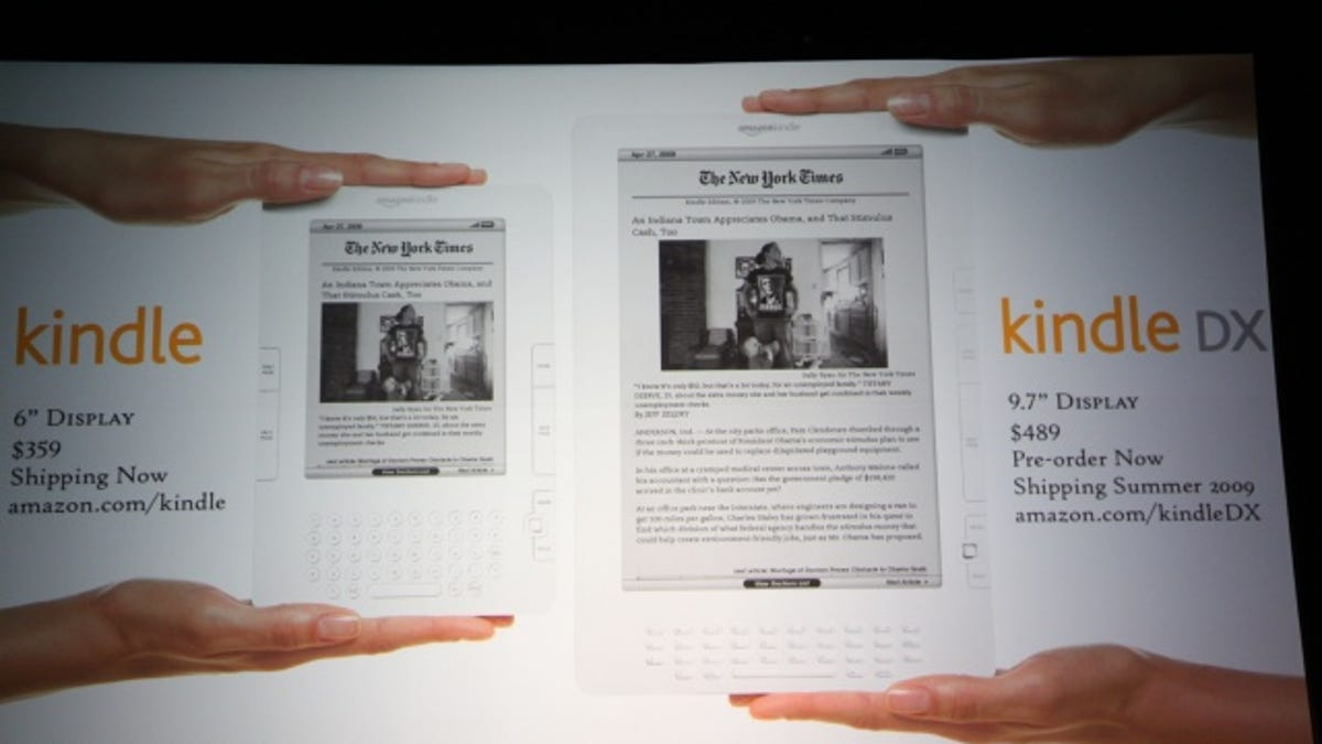 Kindle DX Offers 9 7 Inches of E-Ink for $489