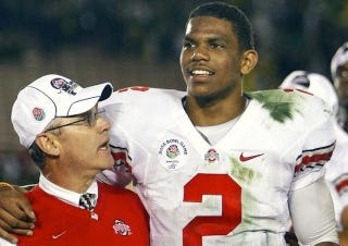 """Illustration for article titled Jim Tressel On Terrelle Pryor: """"Love Conquers All"""""""