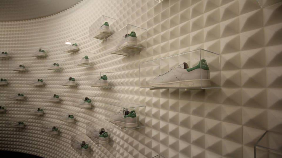 Adidas Shoebox Shop london's giant shoebox is actually an adidas pop-up shop