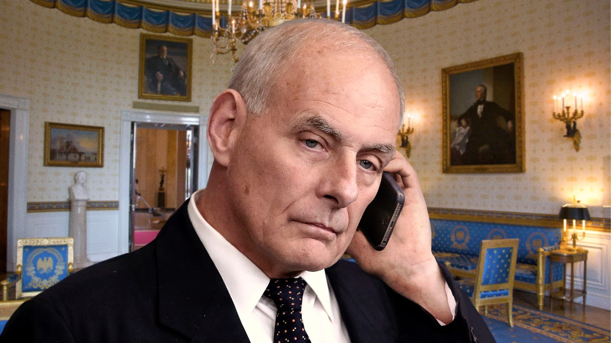 forced to resign resignation letter%0A John Kelly Struggles To Maintain Believable Trump Impression During Phone  Calls With Parkland Survivors