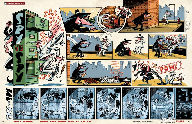 Illustration for article titled Peter Kuper's Spy Vs. Spy Comics Are A Work Of Heart-Rending Brilliance