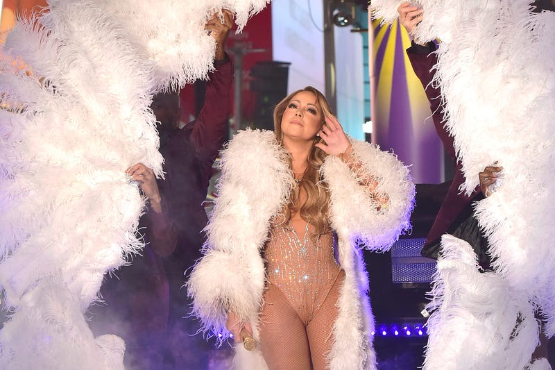 Mariah Carey performs during the New Year's Eve countdown at Times Square on Dec. 31, 2016, in New York City.  Eugene Gologursky/Getty Images for TOSHIBA CORPORATION