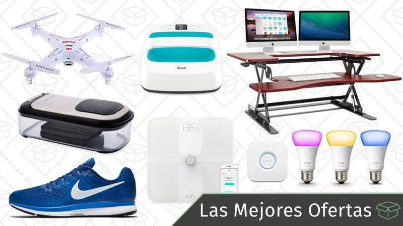 Illustration for article titled Las mejores ofertas de este viernes: Luces Philips Hue, escritorio para trabajar de pie, drone con cámara y más