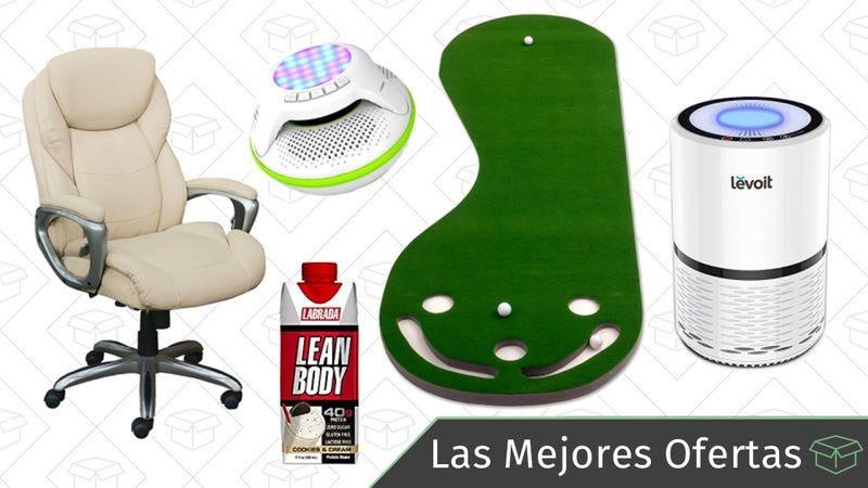 Illustration for article titled Las mejores ofertas de este miércoles: Sillas de oficina, equipamiento deportivo, purificador de aire y más