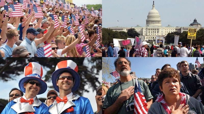 Researchers say the large portion of Americans who take every opportunity to make huge, unapologetic displays of their patriotism are matched in number by those who scoff at the idea of having any pride in the country at all.