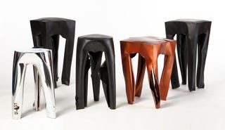 Illustration for article titled These Stools Were Made Using Explosions