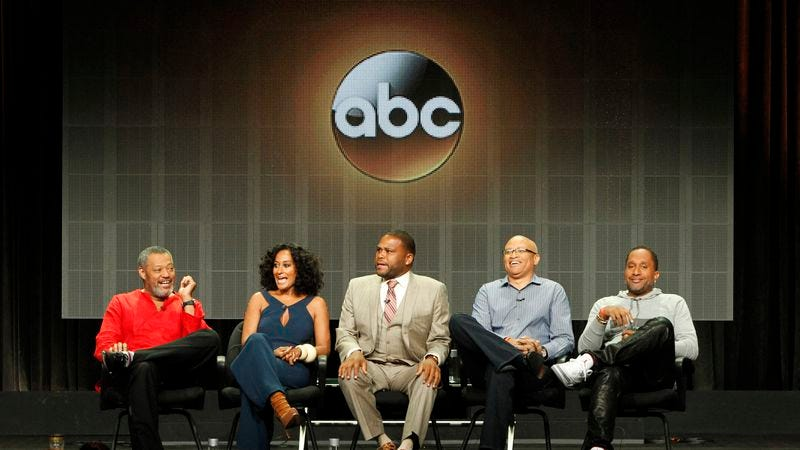 The cast and producers of Black-ish