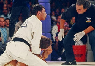 Royce Gracie in action during the Ultimate Fighter Championships UFC 1 on Nov. 12, 1993, at the McNichols Sports Arena in Denver.Holly Stein/Getty Images