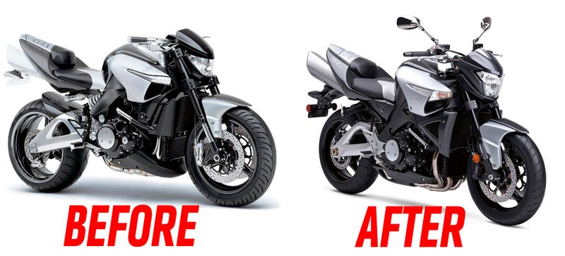 Illustration for article titled This is Why We Can't Have Nice Things: How Ugly Motorcycles Come From Awesome Concepts
