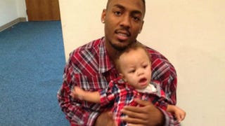 Leon Ford Jr. with his son, Leon Ford III (courtesy of Latonya Green)