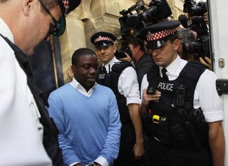 "UBS ""rogue trader"" Kweku Adoboli is arrested. (Getty)"
