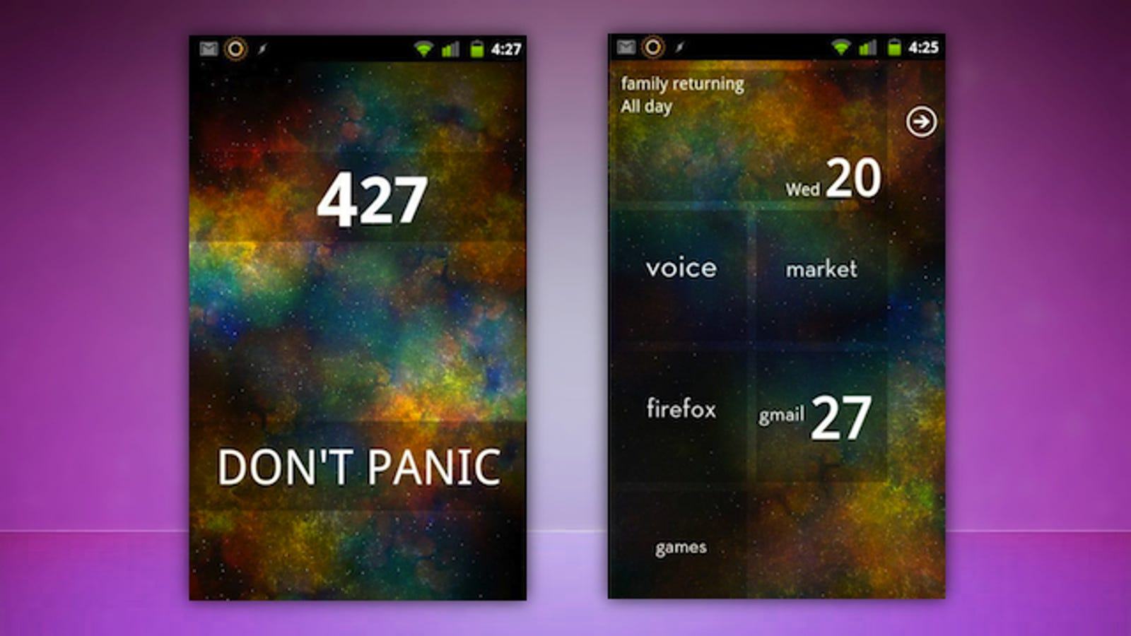 The Dont Panic Home Screen