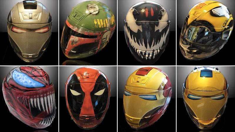 Illustration for article titled Superhero Helmets Unfortunately Won't Make You Invincible On the Road