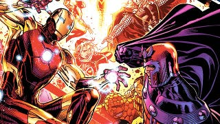 Illustration for article titled Avengers Vs. X-Men is the best stupid comic of the year so far