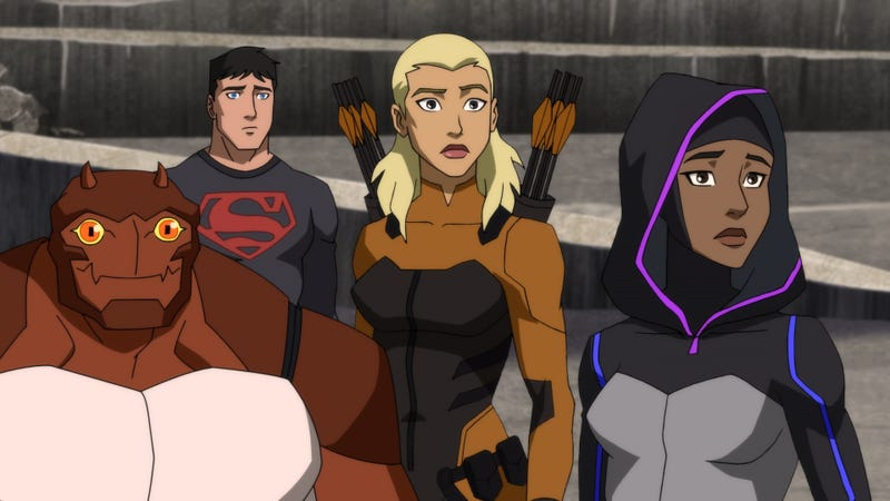 Forager, Superboy, Tigress, and Halo during a routine training mission.