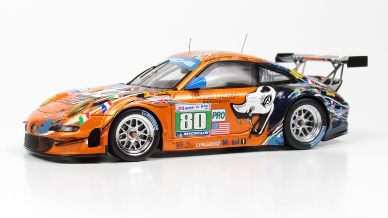 Illustration for article titled Flying Lizard Motorsports Porsche 911 GT3 RSR Art Car