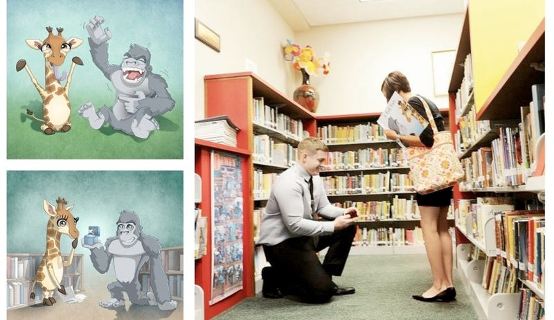 Illustration for article titled Dude Proposes to Girlfriend by Writing Adorable Children's Book