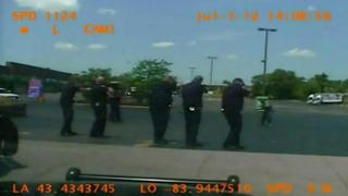 On Monday the American Civil Liberties Union released the dashboard-camera video of Martin Hall's shooting death. Police surrounded Hall, who was armed with a penknife, and fired some 46 times.  ACLU