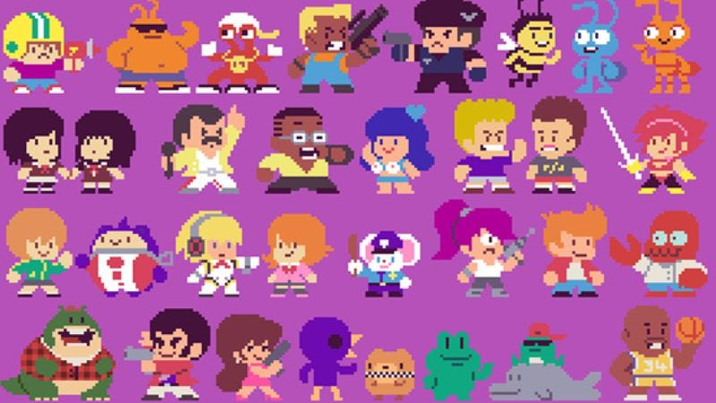 Illustration for article titled 300 famous characters, done in 8-bit style by pixel art god Paul Robertson