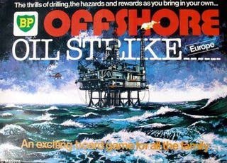 """Illustration for article titled BP Foresaw its Doom in 1970s """"Offshore Oil Strike"""" Board Game"""
