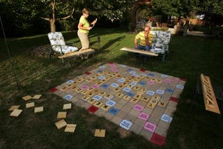 Illustration for article titled Humongous Scrabble Board Makes Life One Big Game