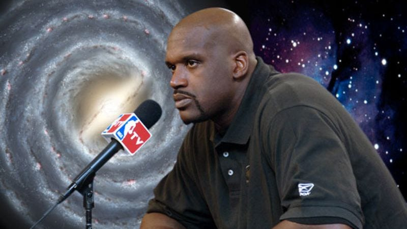 Illustration for article titled Shaq Terrified Of Phoenix Suns After Reading About Supernovas