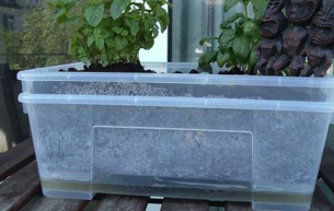 Diy Web Site Instructables Details How To Keep Your Plants Healthy By Building A Self Watering Planter From Of Plastic Ikea Storage Bo